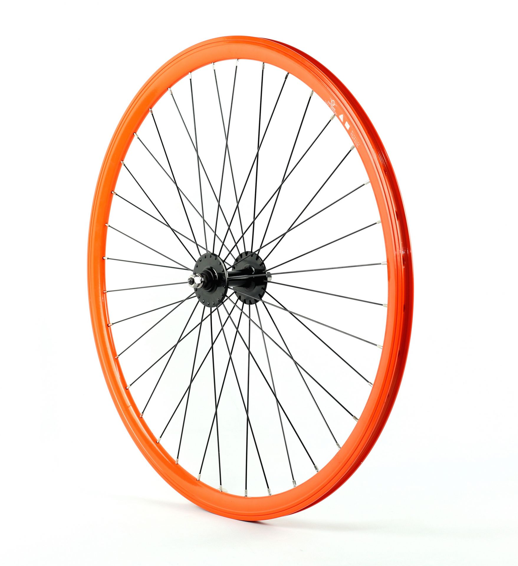 Roue fixie avant 700 Gipiemme 030C hauteur 30 mm Orange