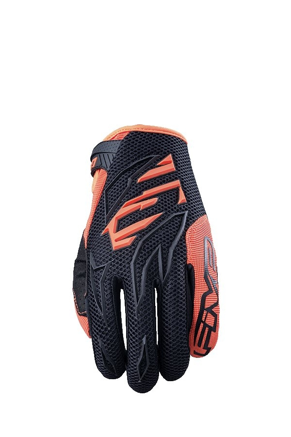 Gants cross Five MXF 3 noir/orange fluo - S