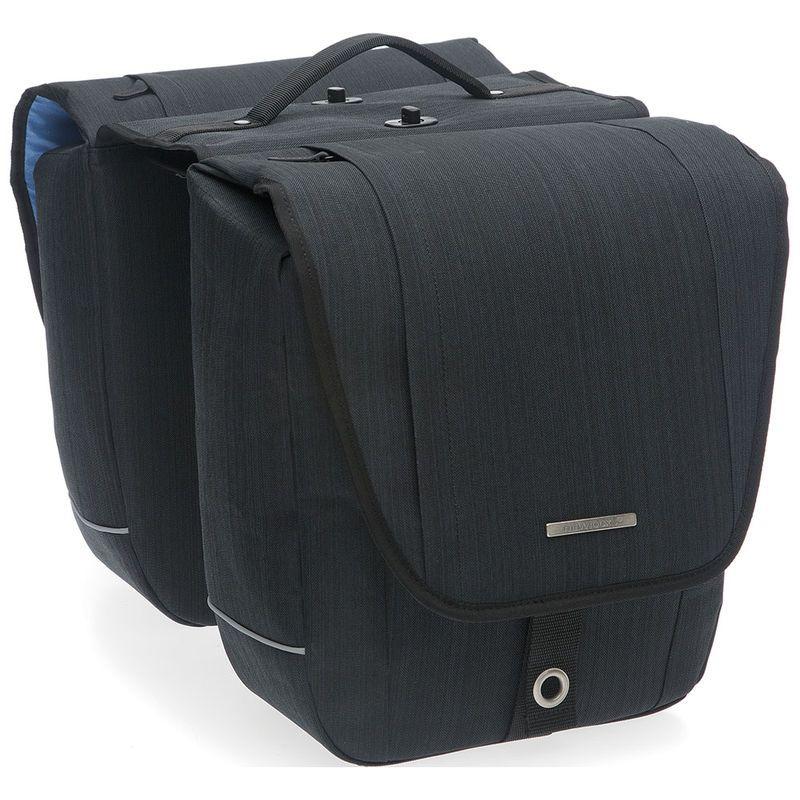 Sacoche double New Looxs Avero À pont détachable sur porte-bagages 25 L Noir