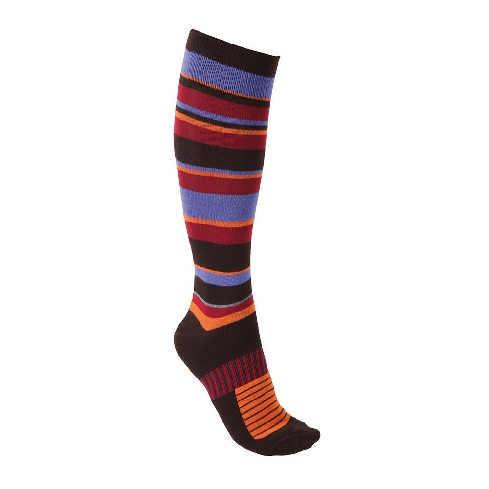 Chaussettes thermiques Tucano Pippi rayures Violet/Orange/Rouge/Réfléchissant - 35-38