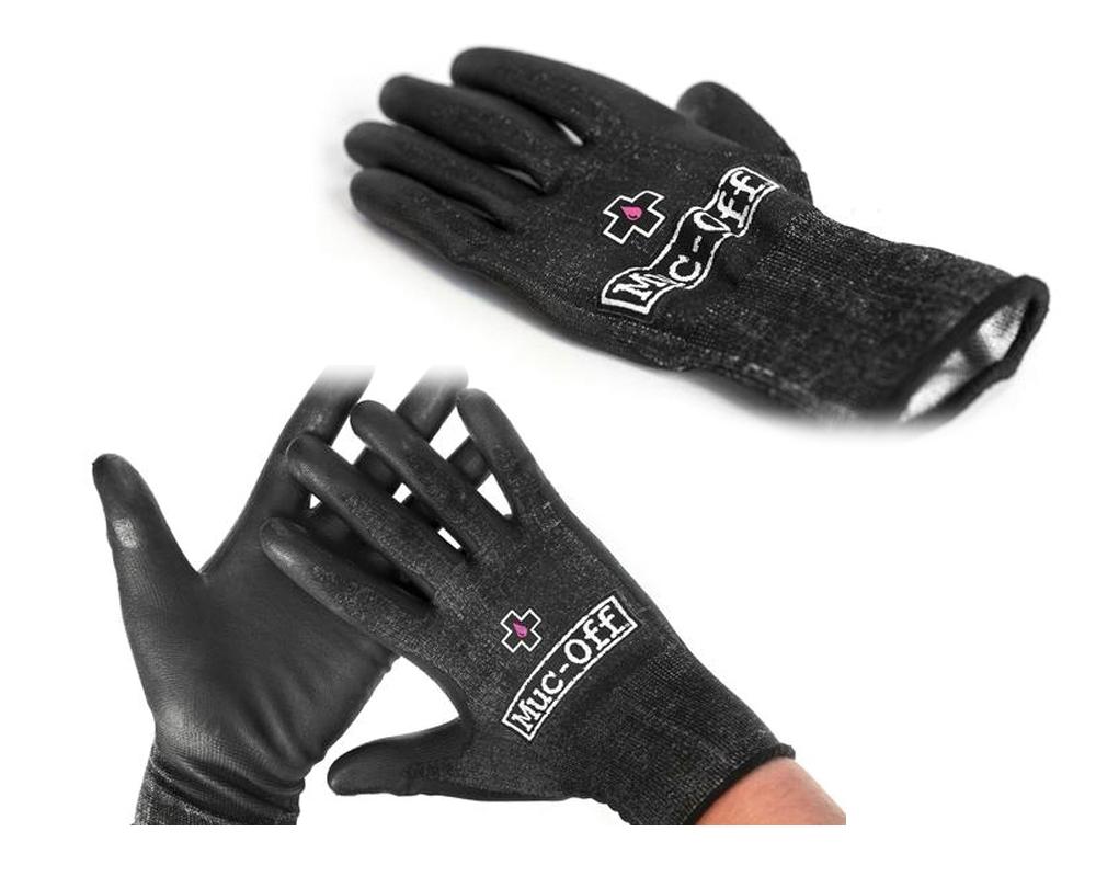 Gants datelier renforcés Muc-Off réutilisables Noir (La paire) - XL
