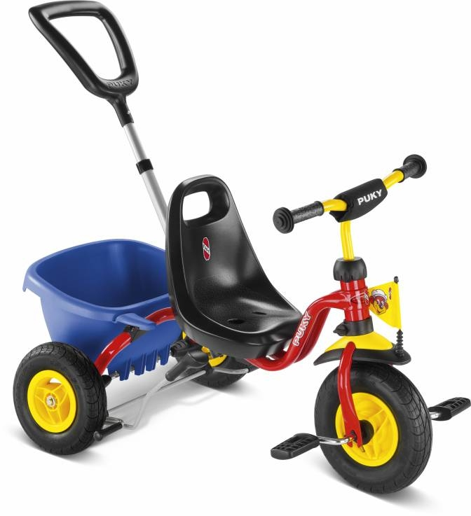 Tricycle Puky CAT 1L rouge 2 ans à pneus gonflables