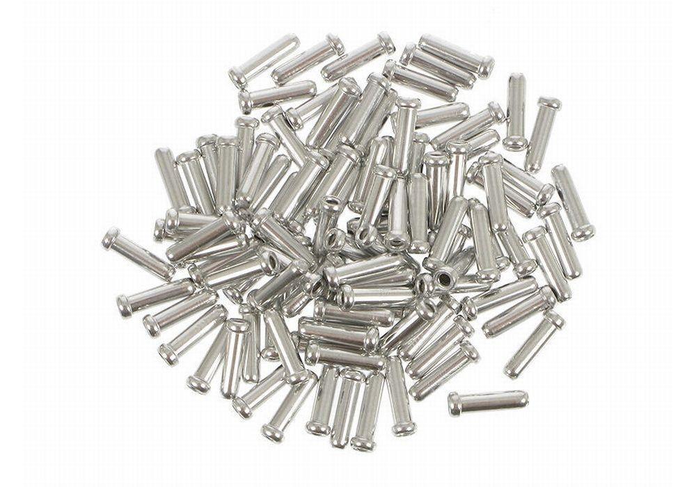 100 embouts de câble de frein Shimano 1,6 mm Argent