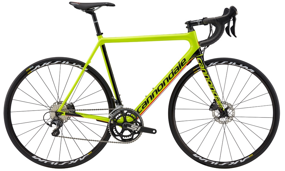 Vélo route Cannondale SuperSix EVO Disc Ultegra Jaune 2017 - 52
