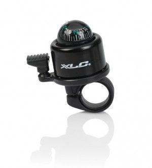 Mini-sonnette XLC DD-M23 avec boussole Noir