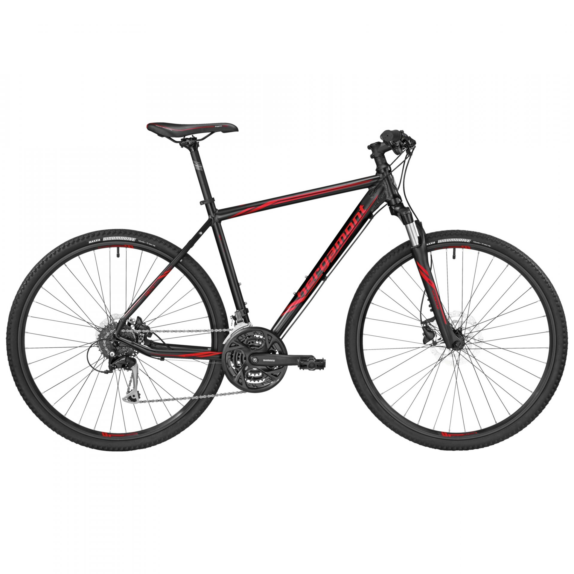 VTC Bergamont Helix 5.0 Noir/Rouge - 52