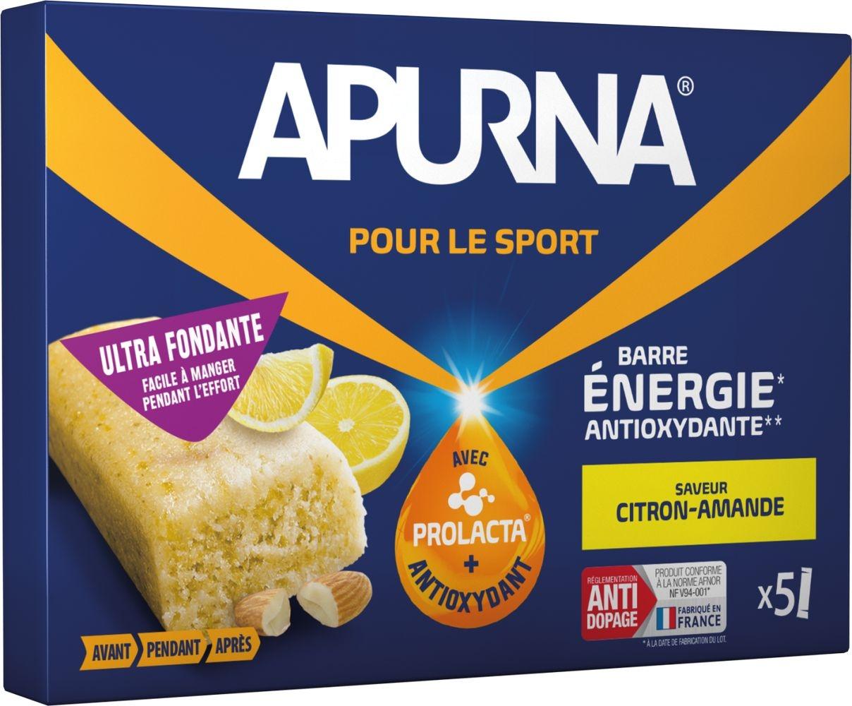 Barre énergie Apurna Amande/Citron Étui 5x25 g