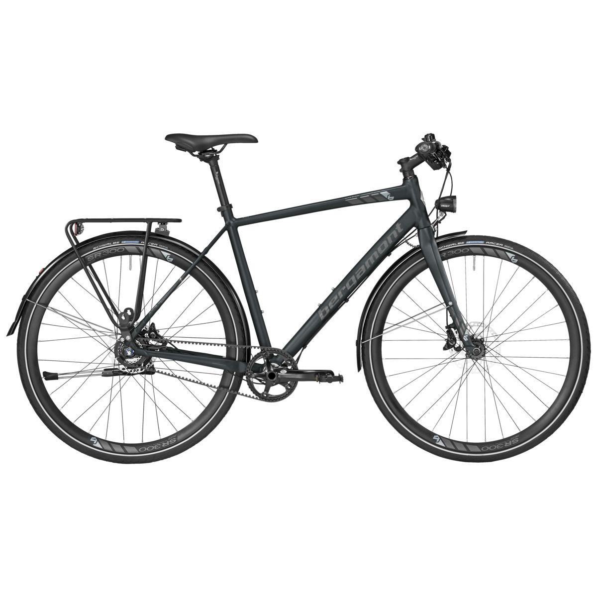 Vélo urbain/trekking Bergamont Sweep MGN EQ Gent Noir mat - M / 52 cm