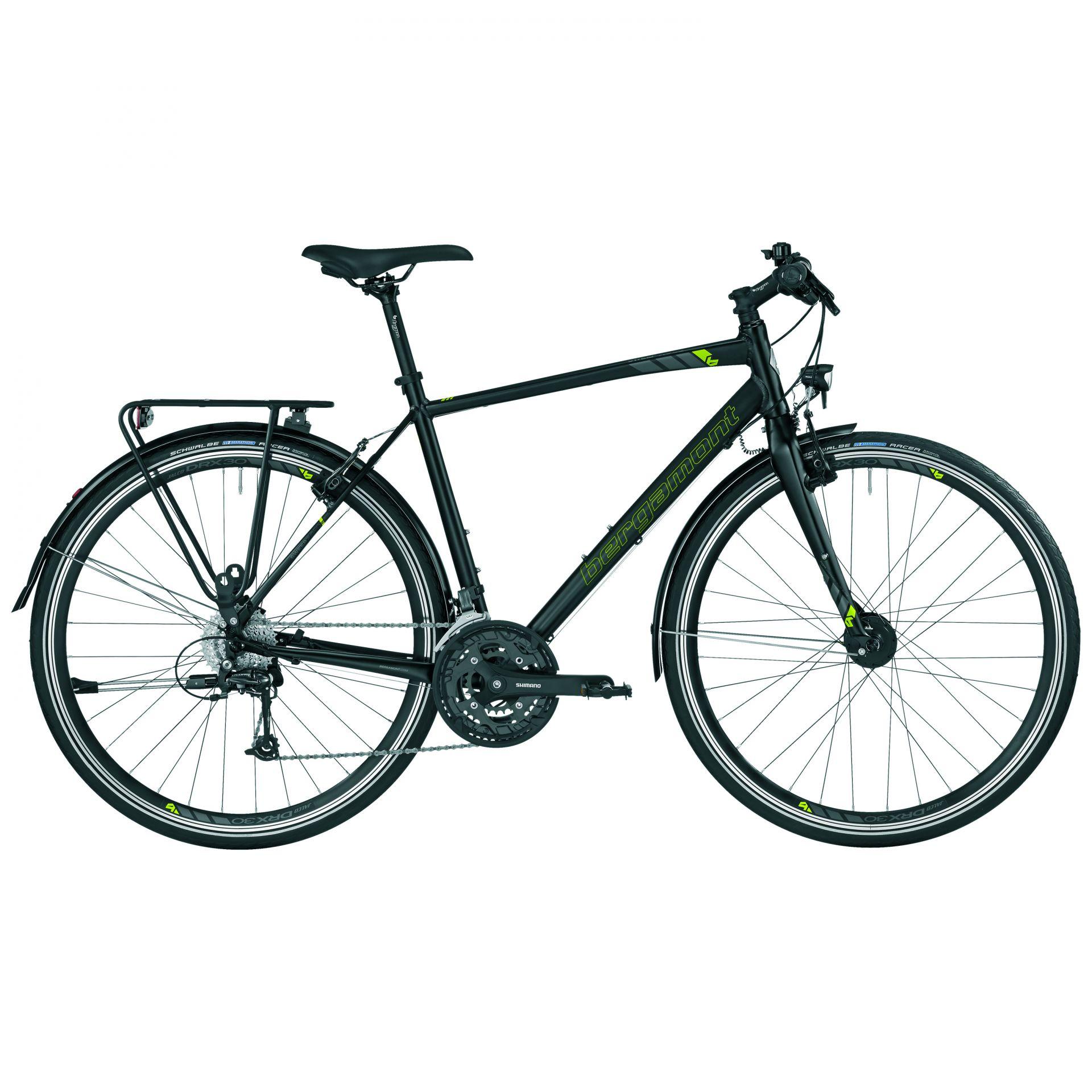Vélo urbain/trekking Bergamont Sweep 7.0 EQ Gent Noir/Lime mat - 52 cm