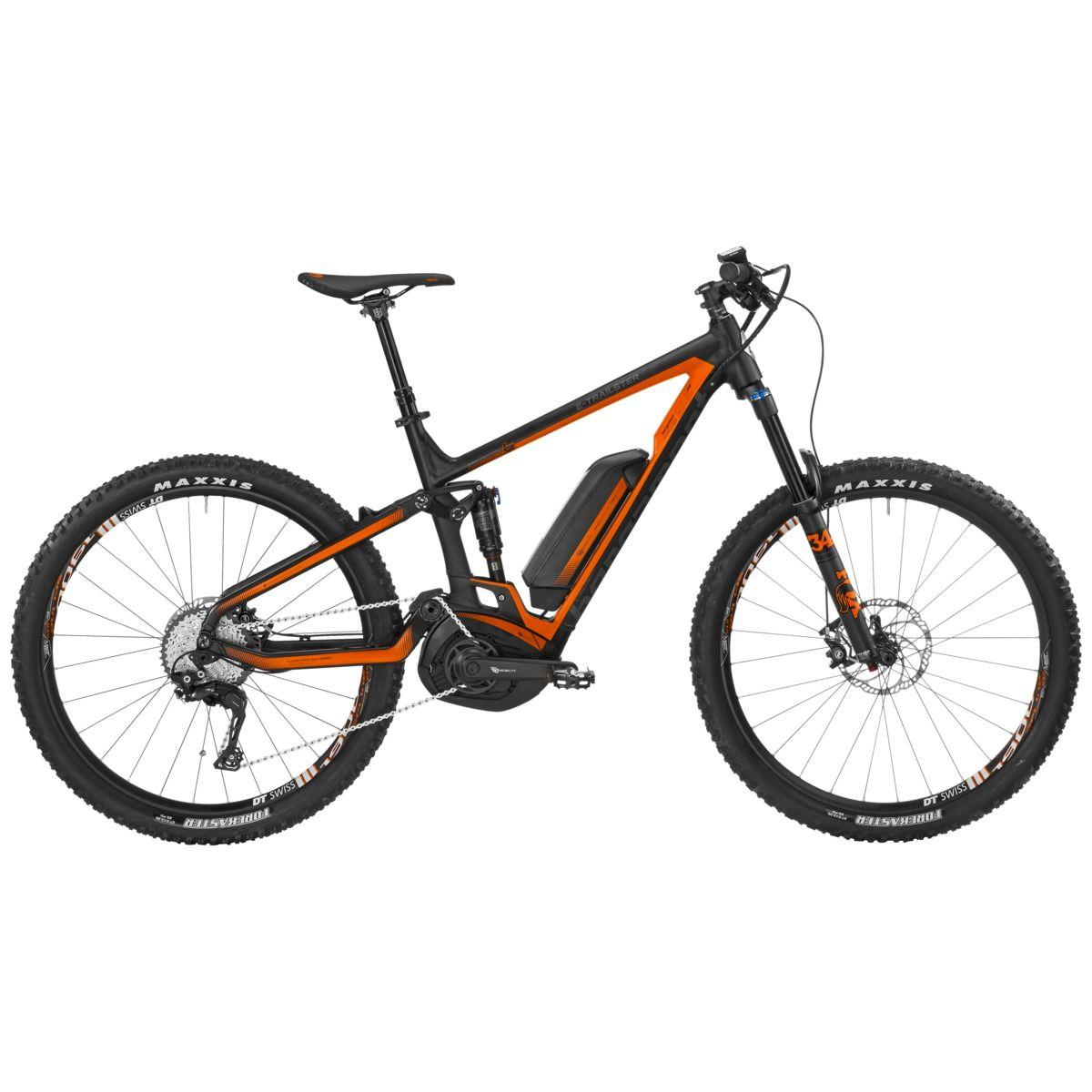 VTT électrique Bergamont E-Trailster 8.0 Noir/Orange - M
