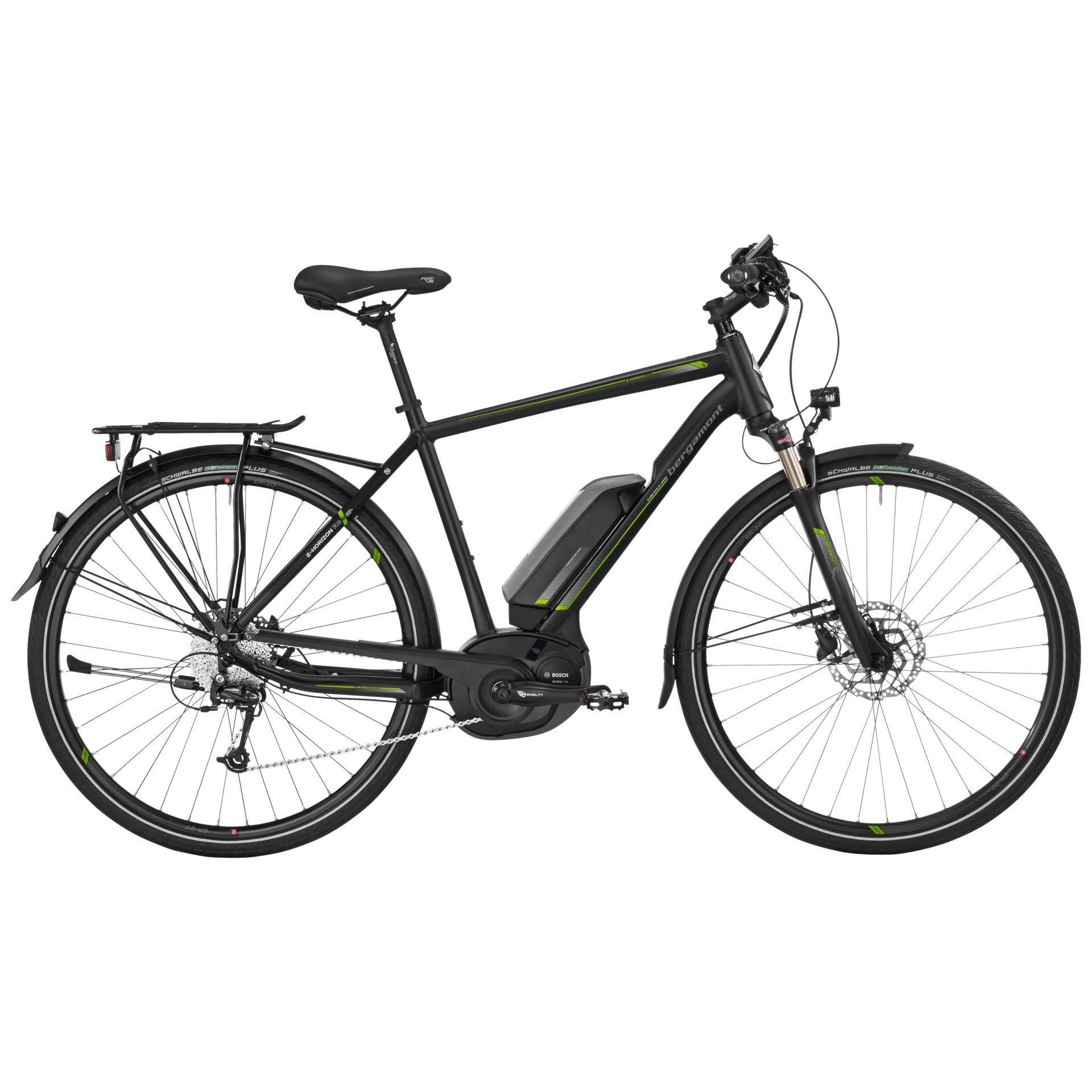 Vélo à assistance électrique Bergamont E-Horizon 7.0 Gent Noir/Lime - 56 cm