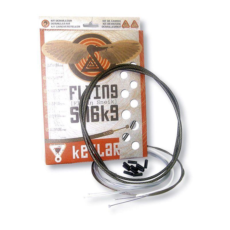 Kit câbles et gaine de dérailleur Transfil K.ble Flying Snake Kevlar