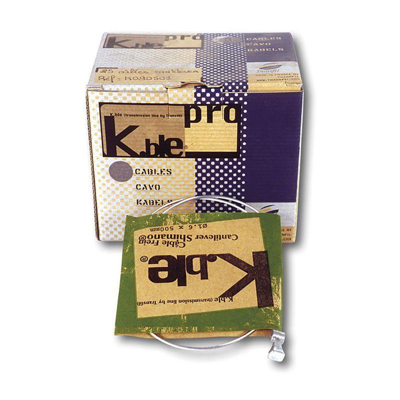 Câble de frein cantilever Transfil K.ble galva 1,5x500 mm (boîte de 20)