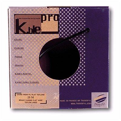Gaine de frein K.ble 5 mm au Teflon Rouleau 25 m Noir