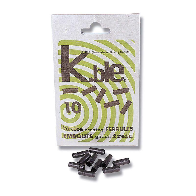Arrêt de gaine de frein Transfil K.ble autobloquant 5 mm Noir (10 unités)