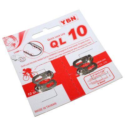 Attache rapide pour chaine vélo YBN 10V Argent (2 paires)
