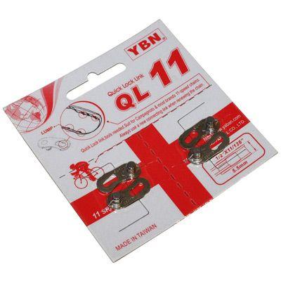 Attache rapide pour chaine vélo YBN 11V Argent (2 paires)