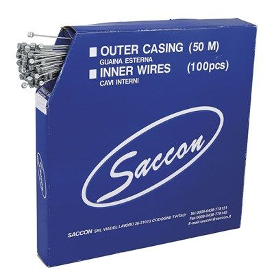Câble de frein VTT Saccon acier inox 1.5x1800 mm (Boîte de 100)