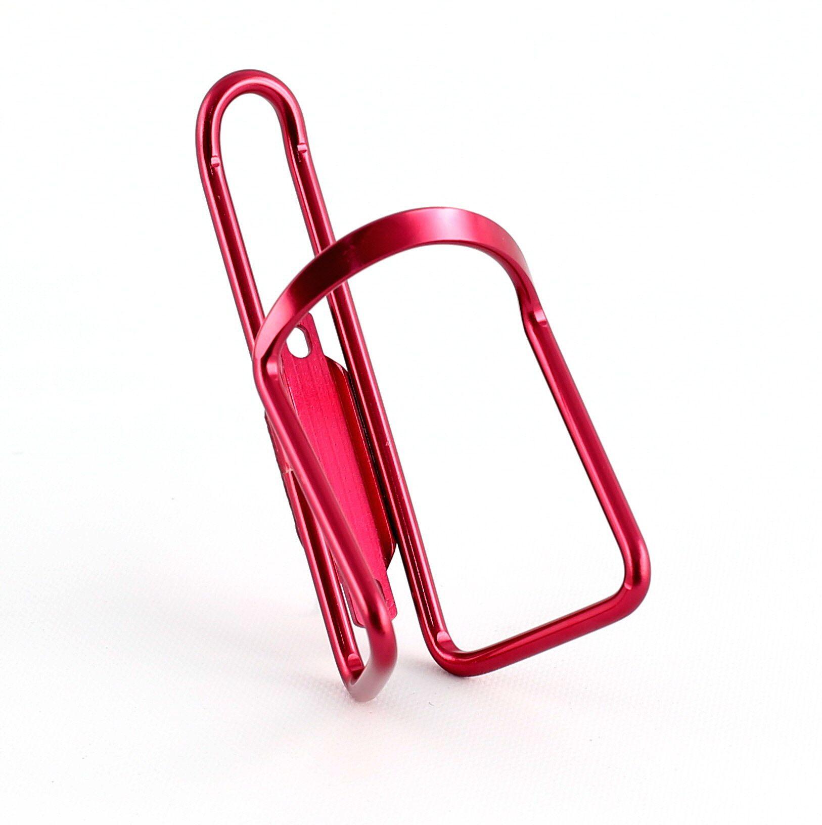 Porte-bidon vélo aluminium anodisé Rouge