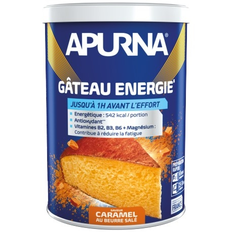 Gâteau énergie Apurna Caramel Beurre Salé 400 g + 1 Gel Framboise