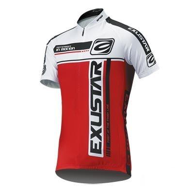 Maillot Exustar Team Rouge/Blanc - XXL