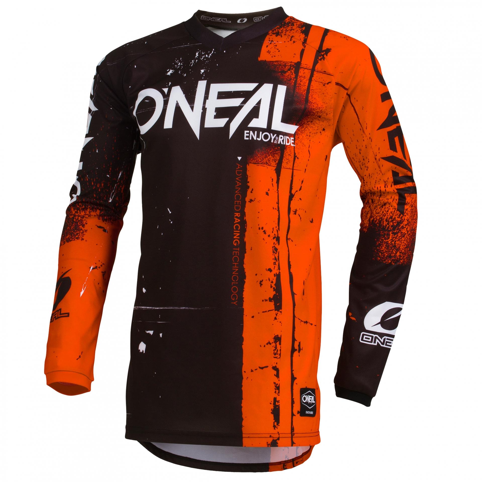 Maillot VTT O'Neal Element enfant Jersey Shred Orange - S