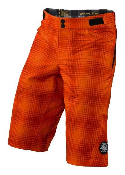 Short Troy Lee Designs Skyline Plaid Orange - 30