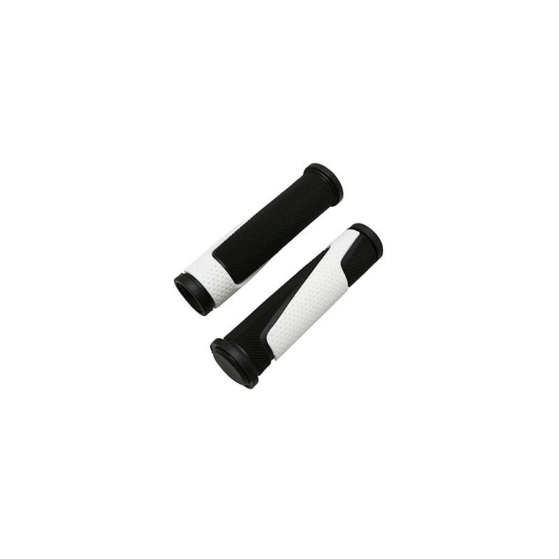 Poignées ProGrip 807 125 mm avec bouchons Noir/Blanc