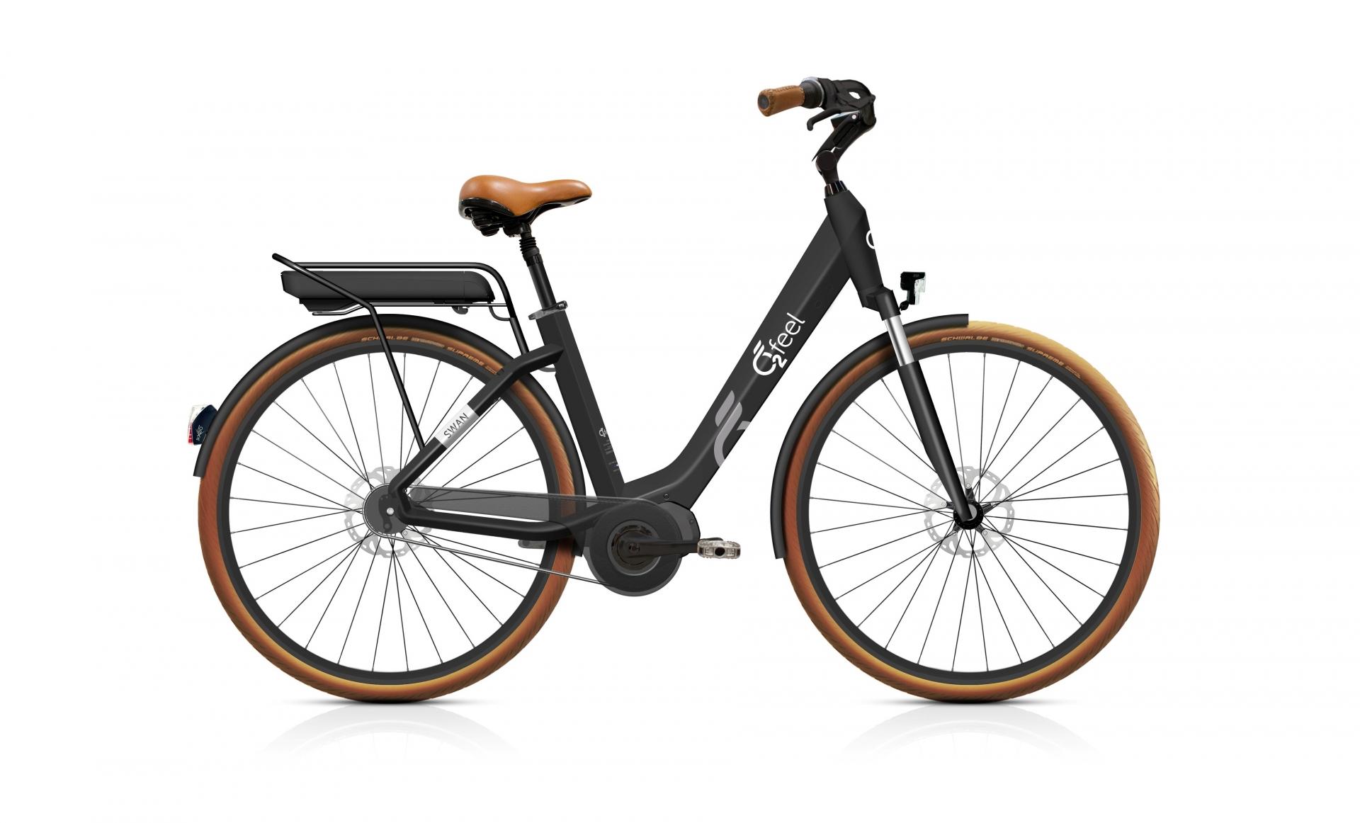 Vélo électrique O2Feel Swan Di Alfine 8 / 26 pouces Noir