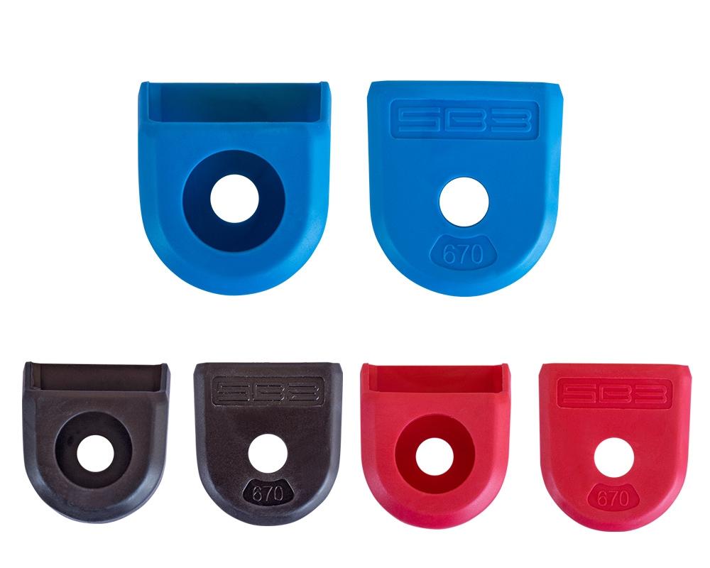 Protection de manivelles SB3 caoutchouc longue (paire) Rouge