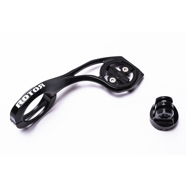 Support de guidon Rotor comp. GPS Garmin / GoPro aluminium 31,8 mm Noir