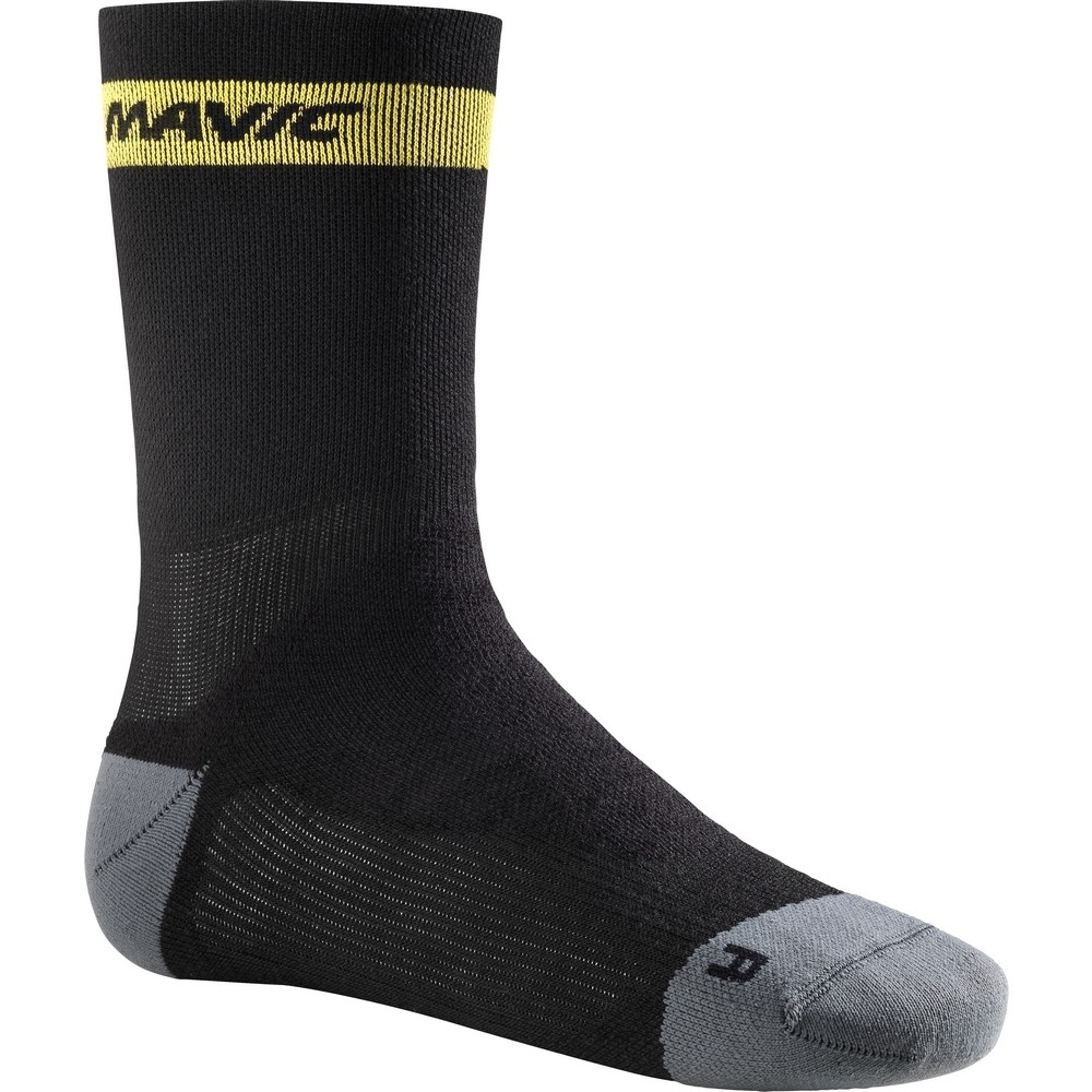 Chaussettes Mavic Ksyrium Elite Thermo Sock Noir/Dark Cloud - 35-38