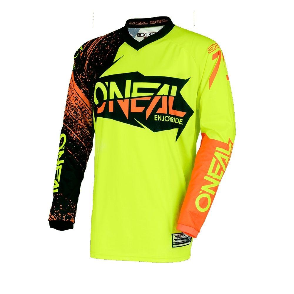 Maillot O'Neal Element Burnout Hi-viz Noir/Jaune/Orange - M