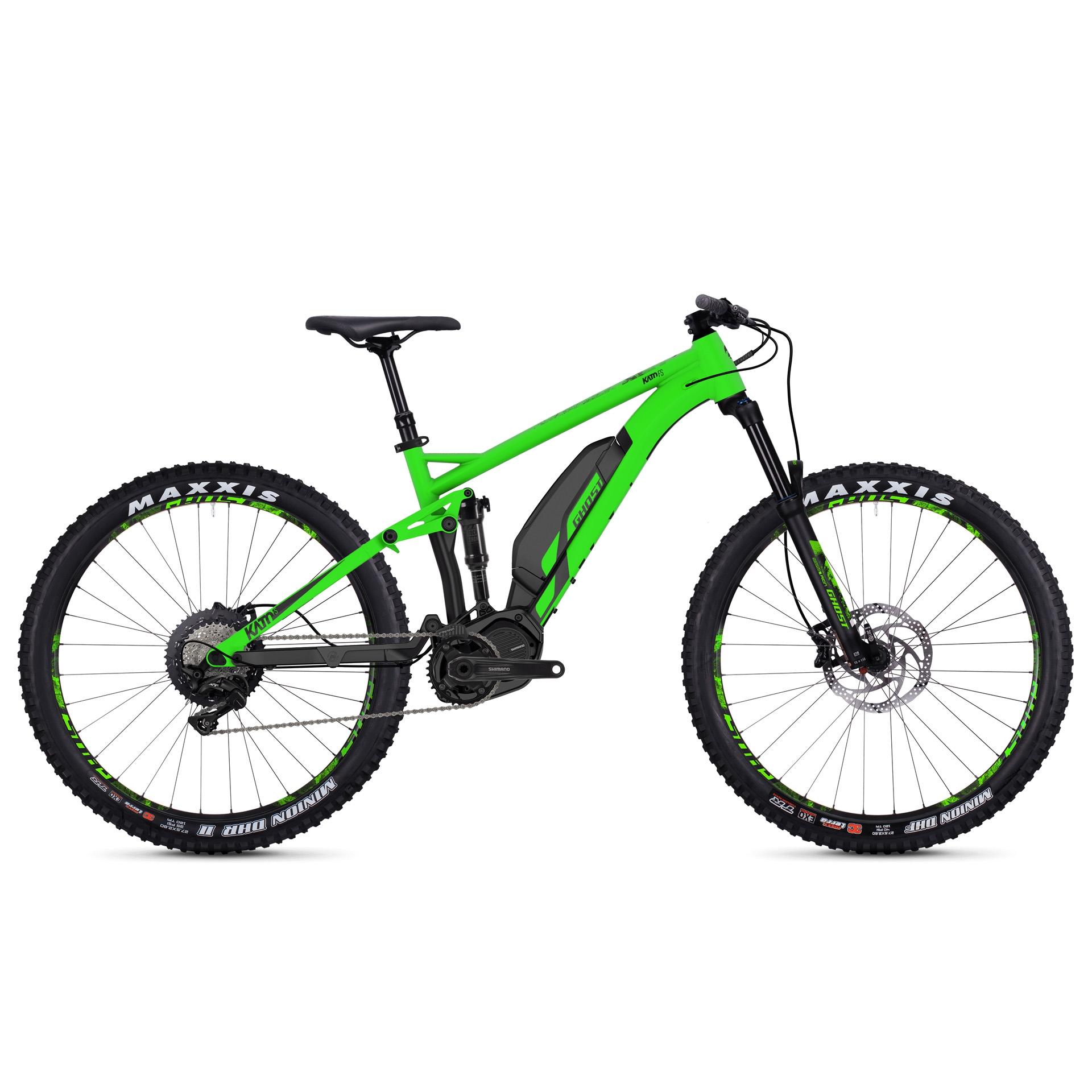 VTT électrique Ghost Kato FS S4.7+ AL Vert-Noir - M