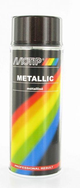 Bombe de peinture métallisé brun MoTip 400 ml