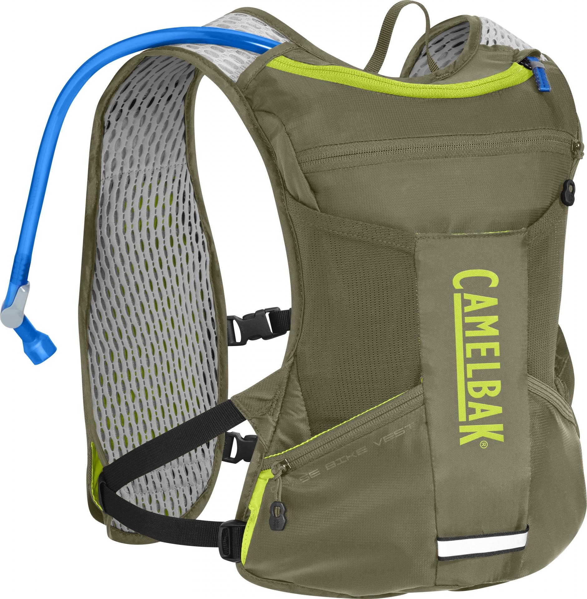Gilet dhydratation CamelBak Chase Bike Vest 2,5 L Vert Olive Burnt/Lime