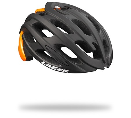 Casque Lazer Blade Mat Black Flash Orange - L (58-61)