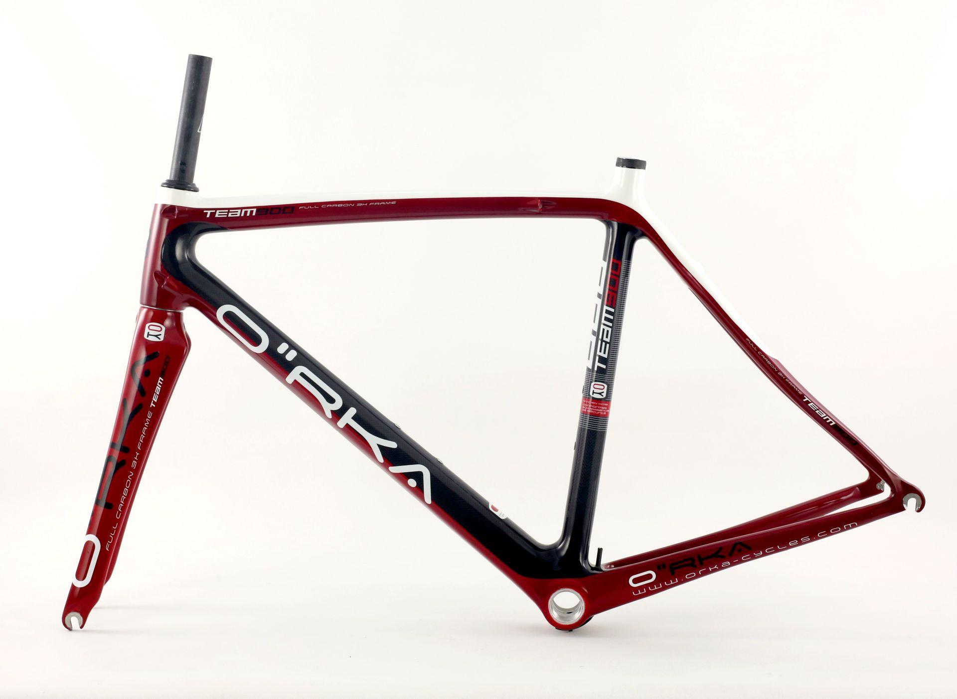 Kit cadre Team 900 Carbone (Rouge/Noir/Blanc) - S