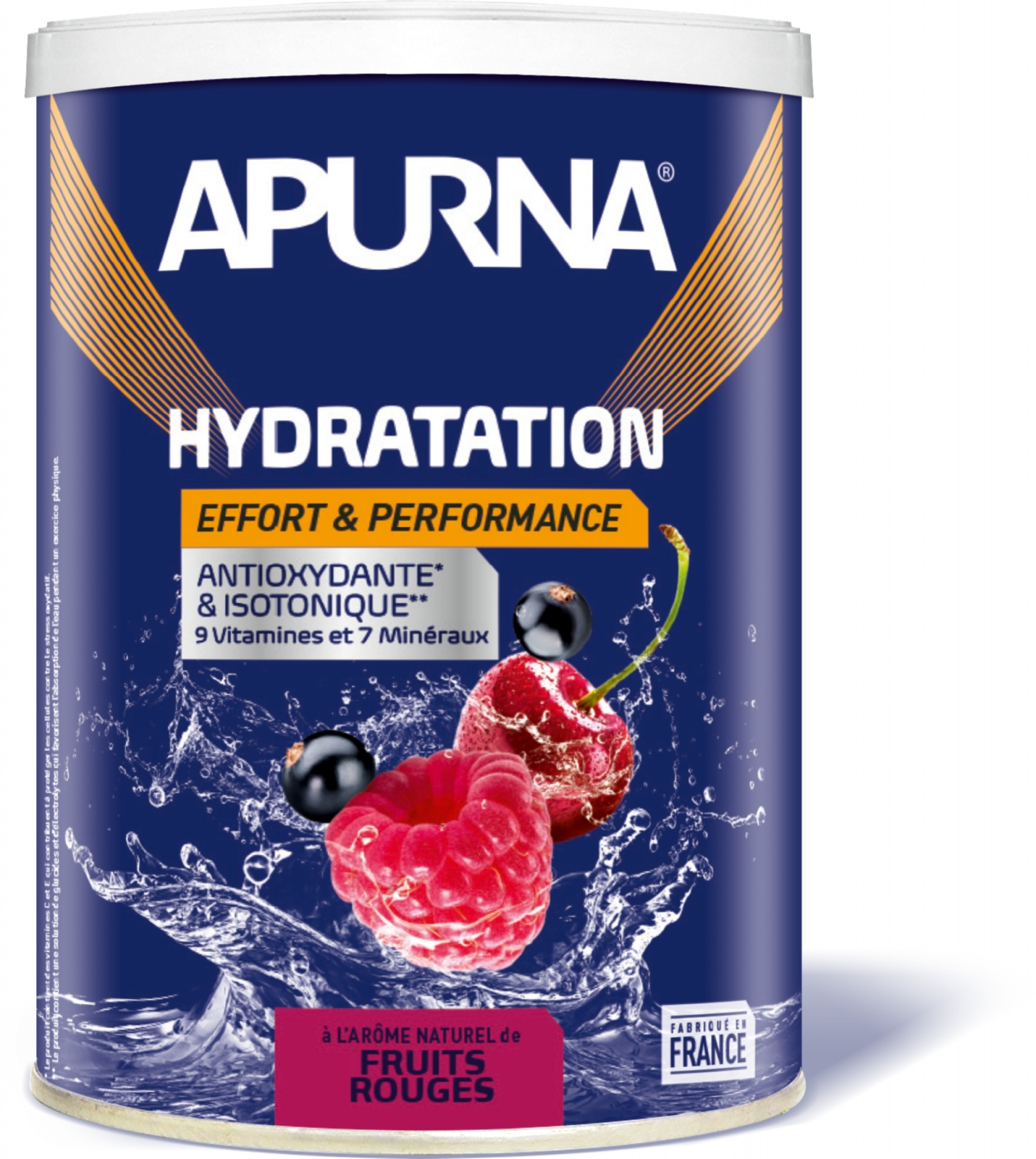Boisson énergie Apurna Fruits Rouge Pot 500 gr