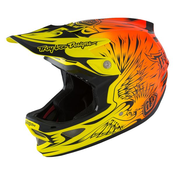 Casque Troy Lee Designs D3 Carbon MIPS Ravage Orange - M / 56-57 cm