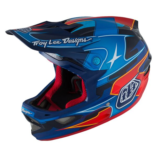 Casque Troy Lee Designs D3 Carbon MIPS Render Blue - L / 58-59 cm