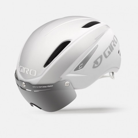 Casque Route Giro Air ATTACK Shield Blanc mat/Argent - S (51-55)