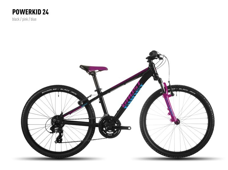 VTT junior Ghost Powerkid 24 Noir/Rose/Bleu