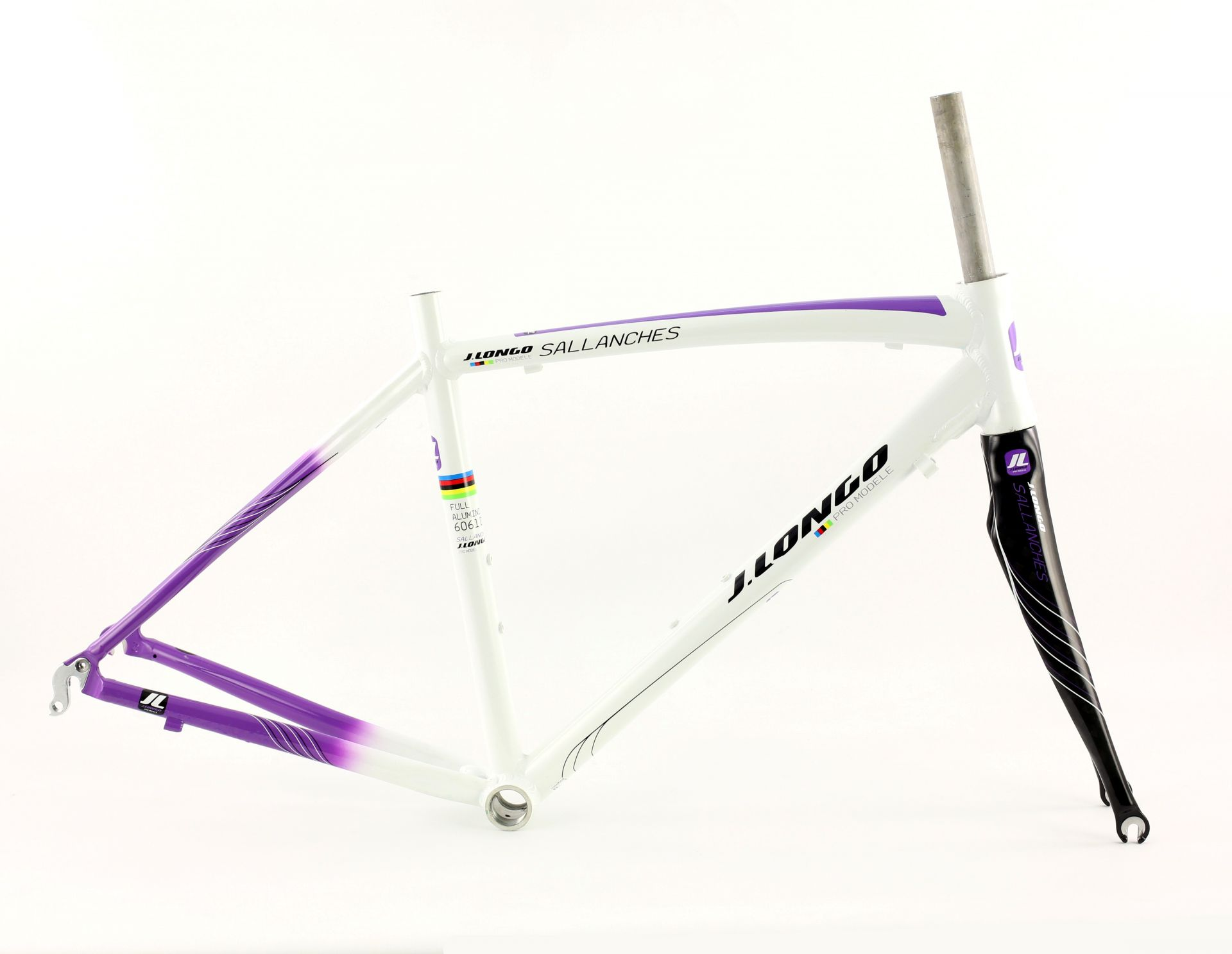 Cadre vélo fitness J.Longo Sallanches alu + fourche carbone - S