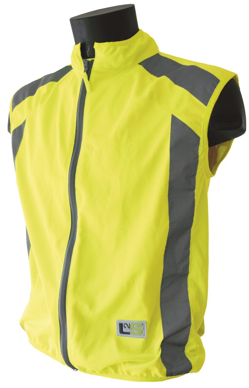 Gilet de sécurité sport L2S Visioplus Jaune fluorescent réfléchissant - XS