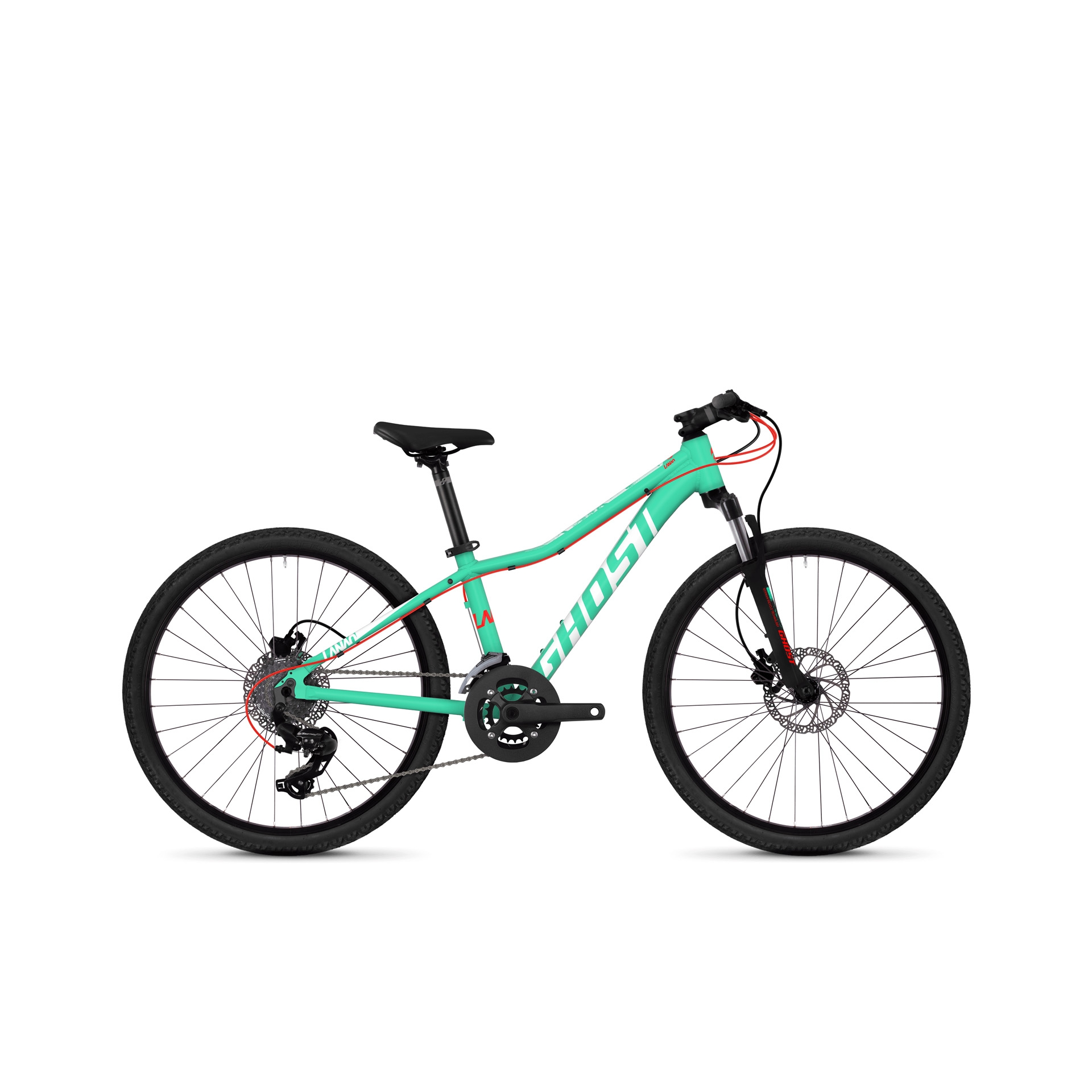 VTT semi-rigide Ghost Lanao Kid D 4.4 24 Disc Bleu/Rouge/Blanc
