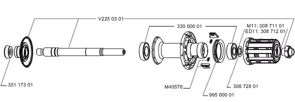 Kit roulements Mavic pour moyeu AR 3300000