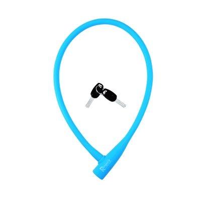 Antivol Rangers Câble à Clé D.12 x 0.75 m 100 % Silicone Bleu