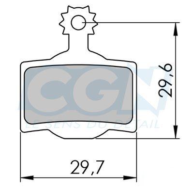 Plaquettes de frein 30 Clarks Exotherm comp. Magura MT2 / MT4 / MT6 / MT8 Organique