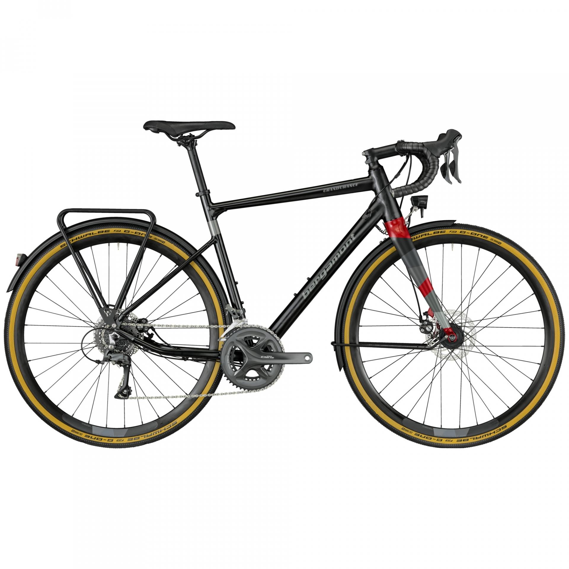 Vélo Gravel Bergamont Grandurance RD 5.0 Noir/Rouge - 53 cm